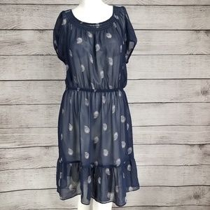 Daisy Fuentes M Sheer Dress Cover up Leaf print